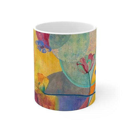 "11oz Mug - ""Kaleidoscope"" by Helen M. Weinstein"