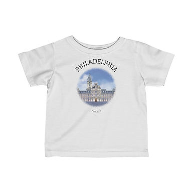 Philadelphia City Hall Infant Tee