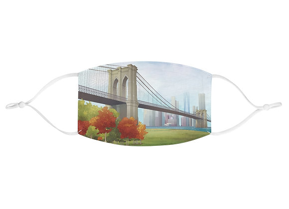Brooklyn Bridge Fabric Face Mask