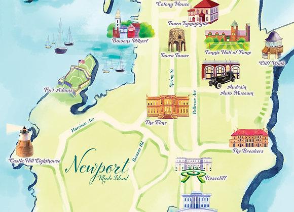 Newport, Rhode Island Map