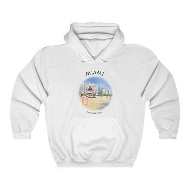 Beaches of Miami Unisex Hooded Sweatshirt