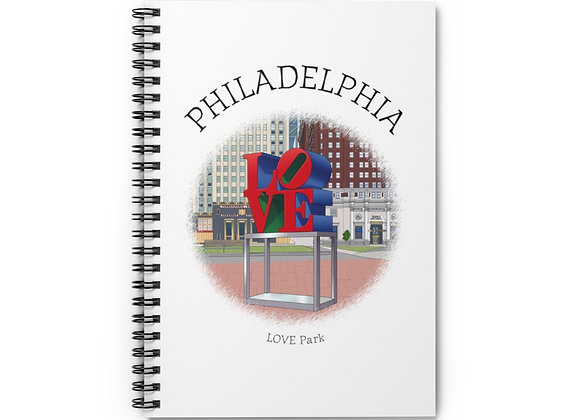LOVE Park Spiral Notebook