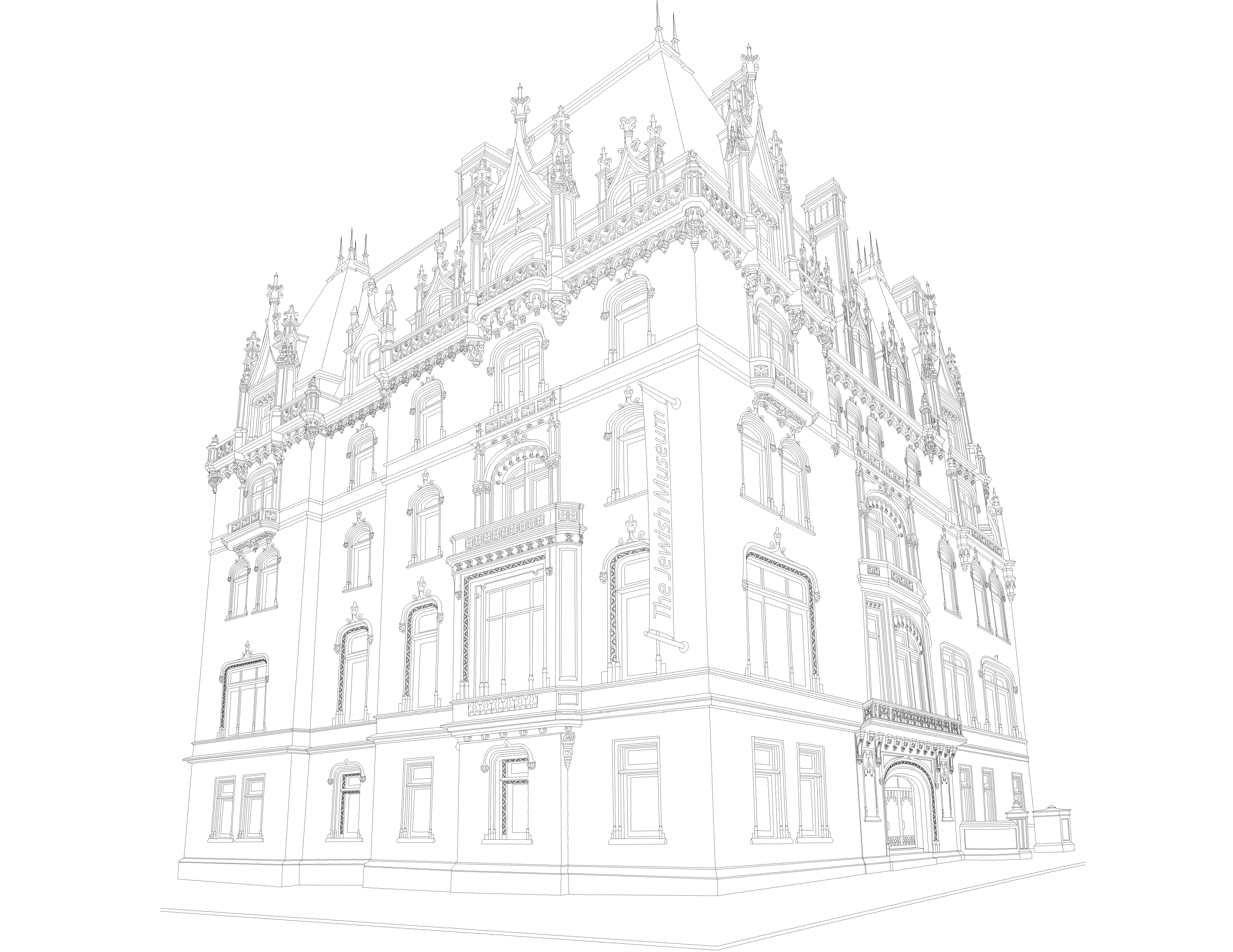 Jewish Museum coloring page