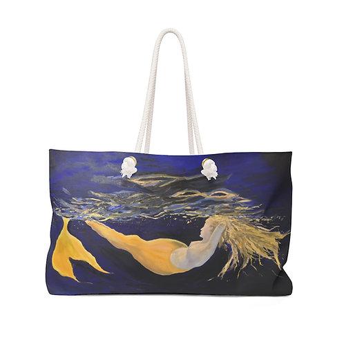 """Weekender Bag - """"Yellow Mermaid"""" by Isabelle Haran-Leonardi"""