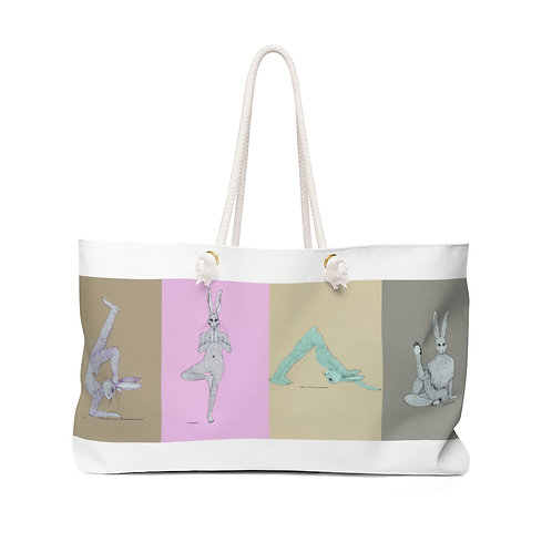 Weekender Bag - Yoga Bunnies - Washed Out Tones