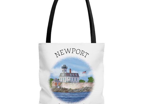 Rose Island Lighthouse Tote