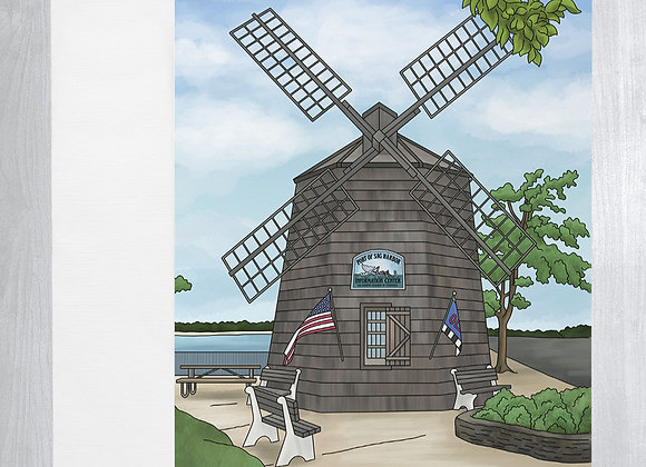 Sag Harbor Windmill Notecard