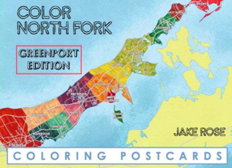Greenport Coloring Postcard