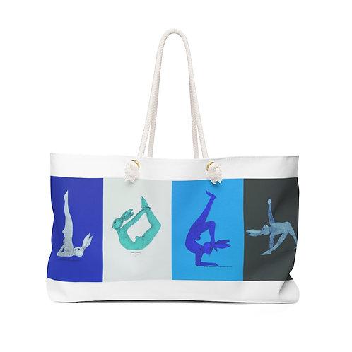 Weekender Bag - Yoga Bunnies - Cool Tones
