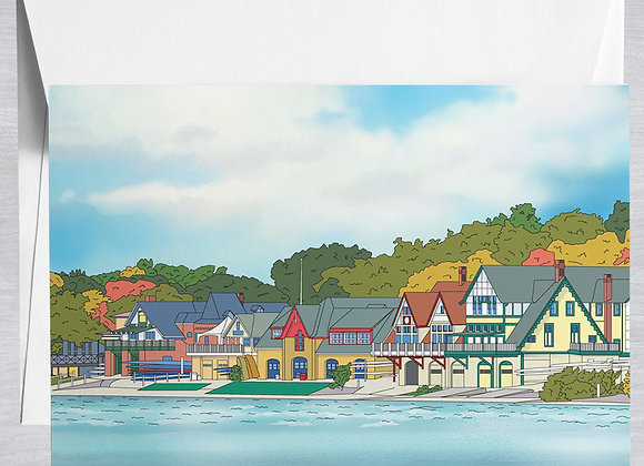 Boathouse Row Notecard