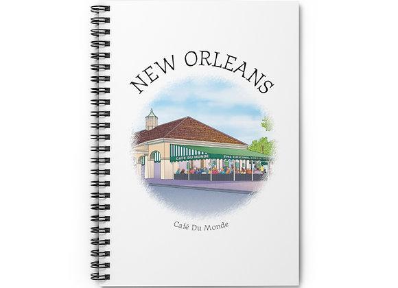 Café Du Monde Spiral Notebook