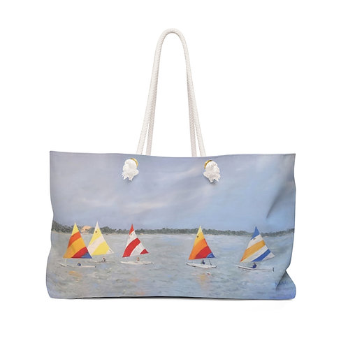 "Weekender Bag - ""Sun, Fish & Sail"" by Isabelle Haran-Leonardi"