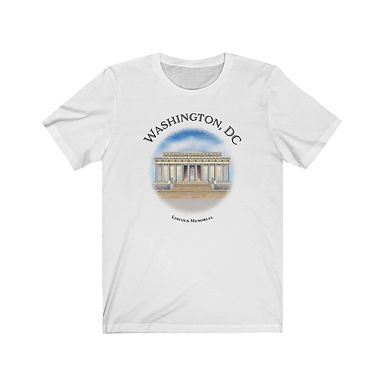 Lincoln Memorial  - Unisex Short Sleeve Tee