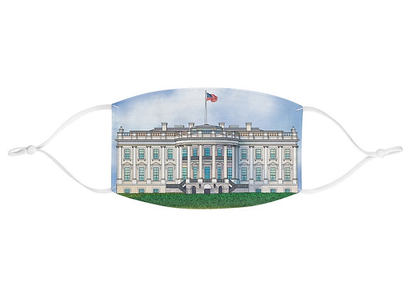 White House Fabric Face Mask