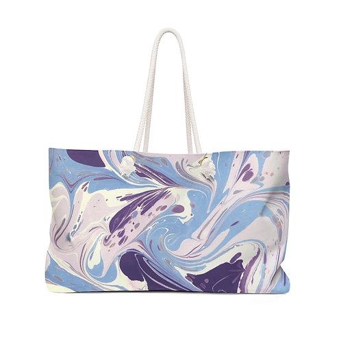 "Weekender Bag - ""Blue Marble"" by Amy Worth"