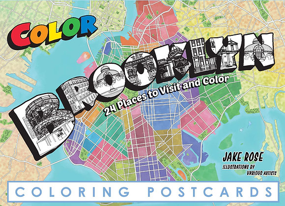 Brooklyn Coloring Postcard