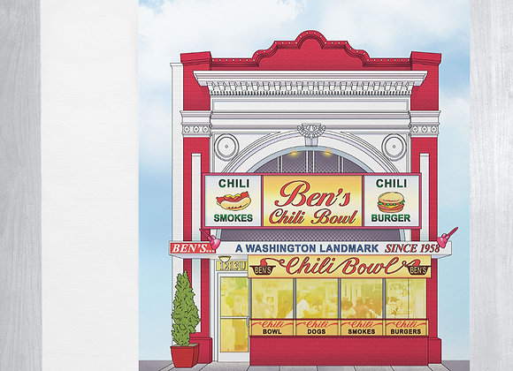 Ben's Chili Bowl Notecard