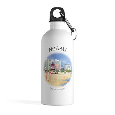 Beaches of Miami Water Bottle