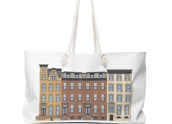 Weekender Bag - Brooklyn Brownstones