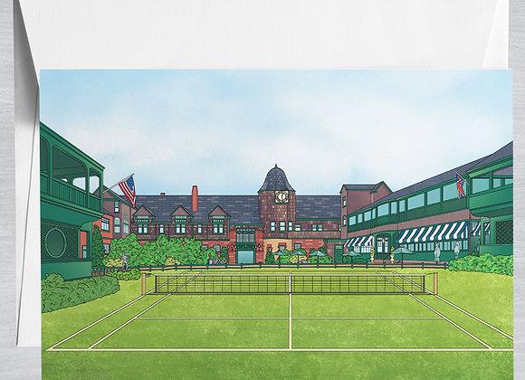 International Tennis Hall of Fame Notecard