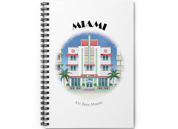 Art Deco Spiral Notebook