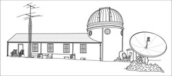 Drawing - The Custer Observatory