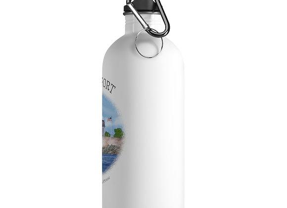 Rose Island Lighthouse Water Bottle