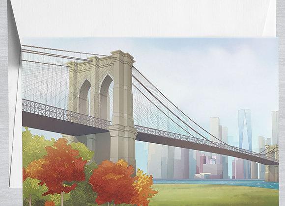 Brooklyn Bridge Notecard