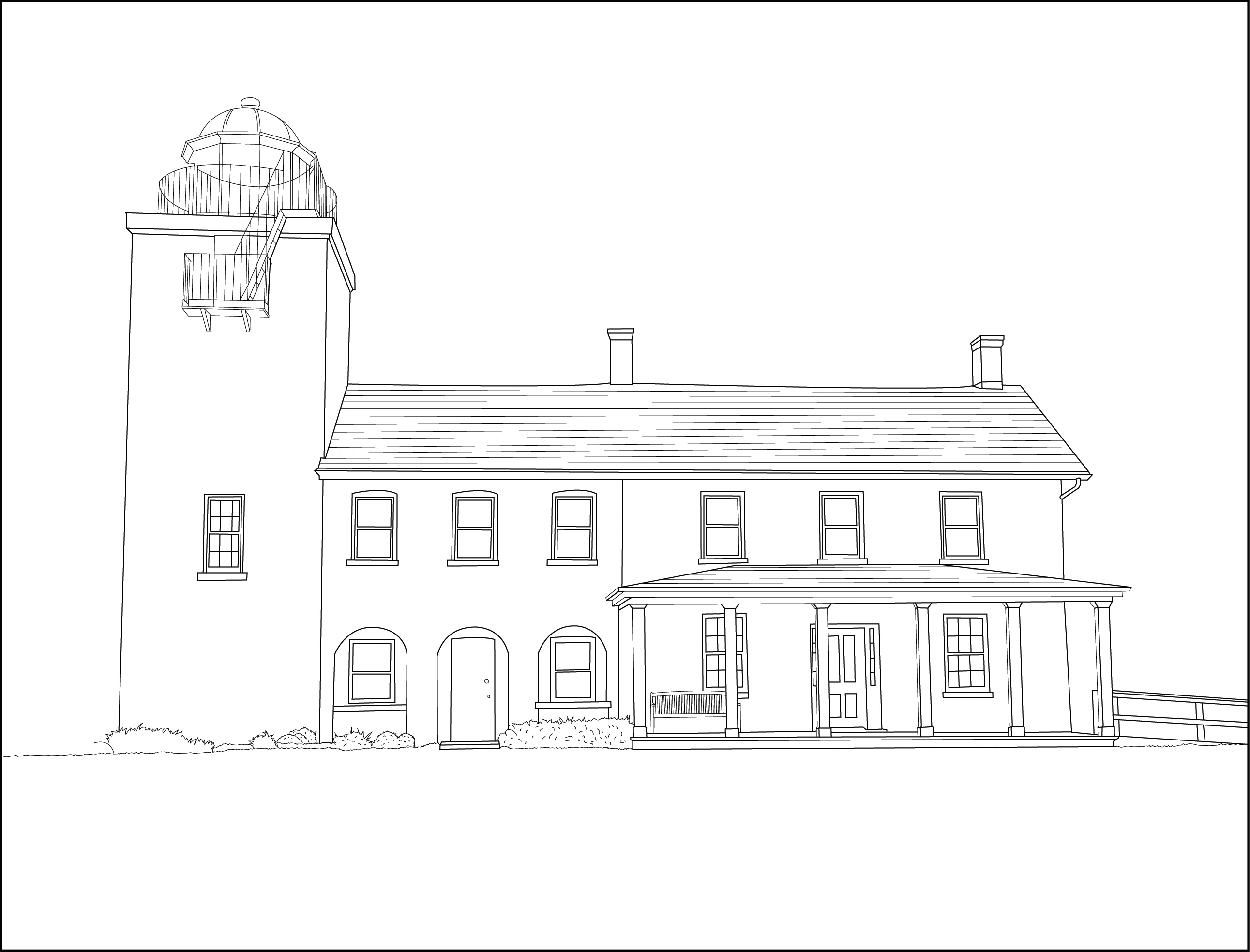 Drawing - Horton Lighthouse