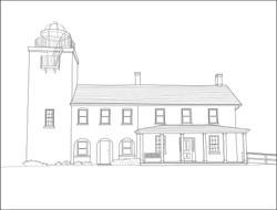 Drawing - Horton Lighthouse
