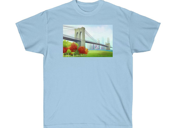 Brooklyn Bridge - Unisex Cotton Tee
