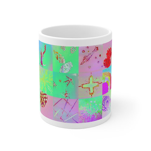 """Mug 11oz - """"Confetti"""" by Cindy Pease Roe"""