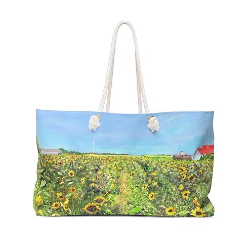 """Weekender Bag - """"Sunflowers at Pindar"""" by Isabelle Haran-Leonardi"""