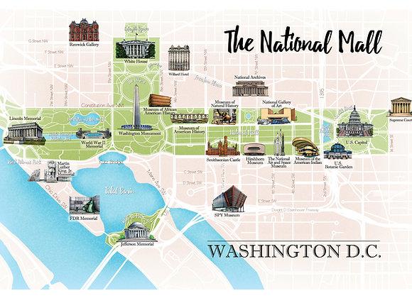 Washington DC National Mall Map