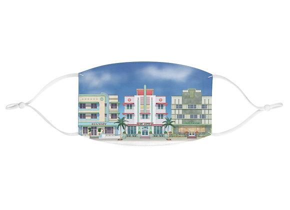 Miami South Beach Art Deco Hotels Face Mask