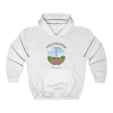 Independence Hall Unisex Hooded Sweatshirt