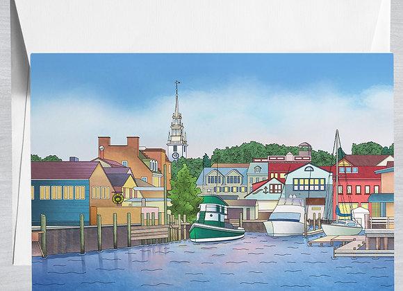 Bowen's Wharf Notecard