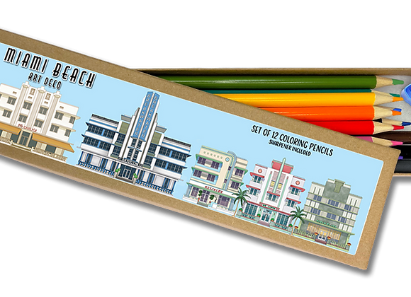 Miami Beach Coloring Pencil Set