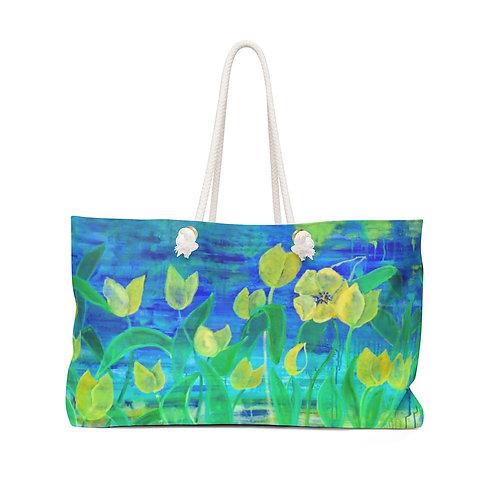 "Weekender Bag - ""Field of Yellow"" by Helen M. Weinstein"