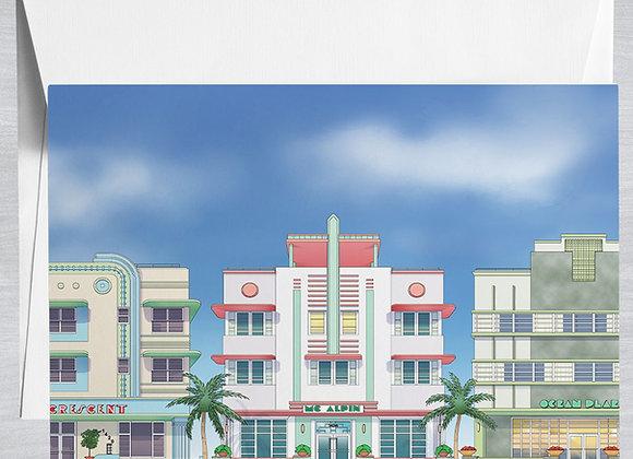Miami Art Deco District Notecard