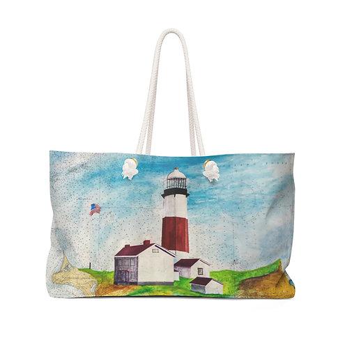 "Weekender Bag - ""Montauk Lighthouse"" by Don Wilson"