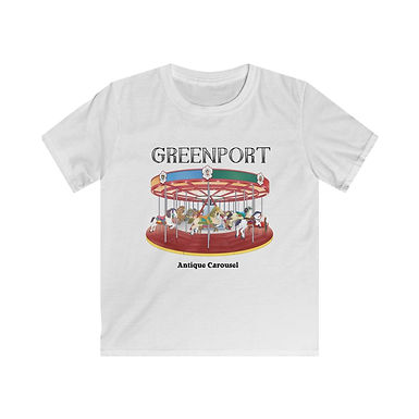 Greenport Carousel Kids Softstyle Tee
