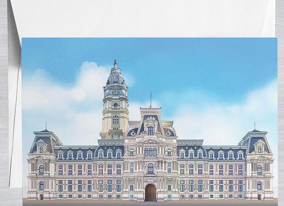 Philadelphia City Hall Notecard