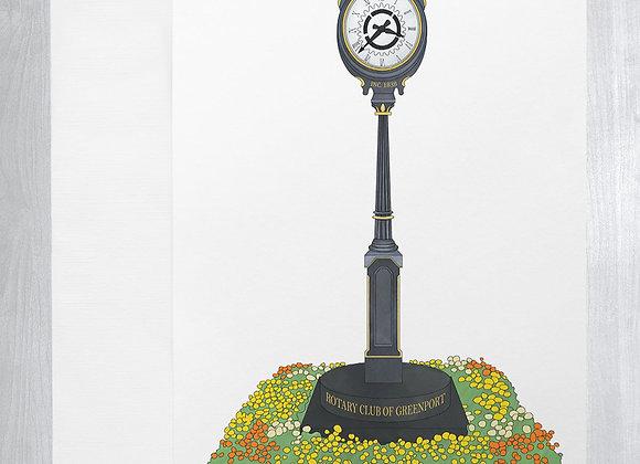 Greenport Clock Notecard