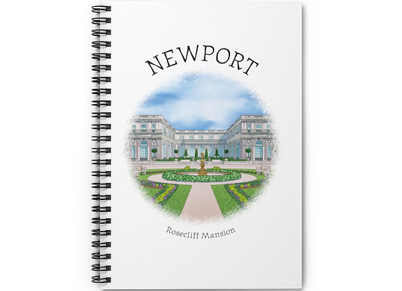 Rosecliff Mansion Spiral Notebook