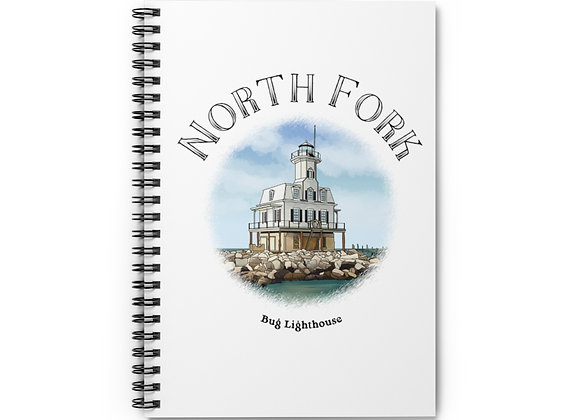 Bug Lighthouse Spiral Notebook