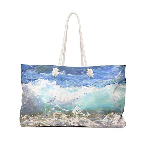 """Weekender Bag - """"Waves"""" by Isabelle Haran-Leonardi"""