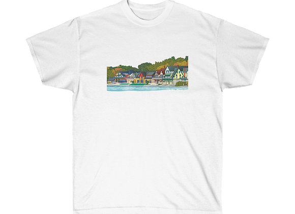 Boathouse Row - Unisex Cotton Tee