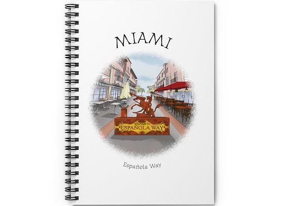 Española Way Spiral Notebook