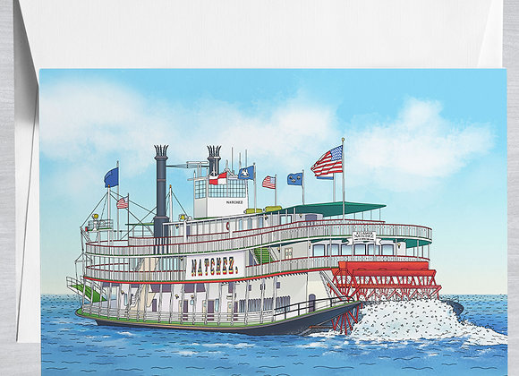 Steamboat Natchez Notecard
